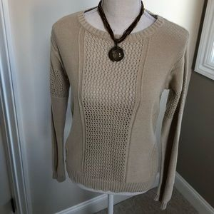 Rubbish beige knit sweater from Nordstrom, Small